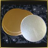 подложка золотая Круг  90мм (10шт.)