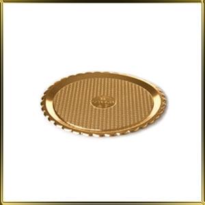 поднос д/выкладки пл. круг. 220мм Круг золотой
