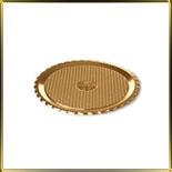 поднос д/выкладки пл. круг. 240мм Круг золотой