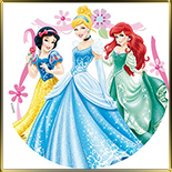 декор  3 принцессы Диснея
