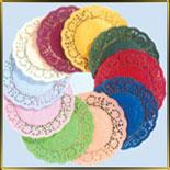 Салфетки круглые цветные