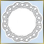 салфетка ажур. 42см кремовая (100шт.) Роза