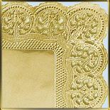салфетка прямоуг. 40*30см золото ( 25шт.) Цветы