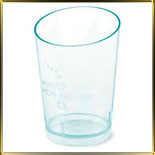 стаканчик пл. Конус скошенный  60мл (20шт.) прозр. зелен.
