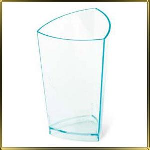 стаканчик пл. Цилиндр треугольный  70мл (20шт.) прозр. зелен.