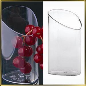 стаканчик пл. Цилиндр треугольный скошенный  70мл (25шт.) прозр.