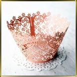 бордюр-тарталетка дно d50*h55мм Цветочки мал. розовая перлам. (10шт.)