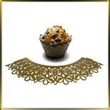 бордюр-тарталетка дно d50*h55мм Узор золотая светлая перлам. (10шт.)