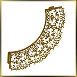 бордюр-тарталетка дно d50*h55мм Завитки розовая светлая перлам. (10шт.)