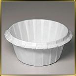 бум. форма с бортиком 50*40мм белая (100шт.)