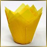 тарталетка Тюльпан d50мм желтая (50шт.)