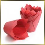тарталетка Тюльпан d50мм красн. (50шт.)