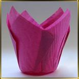 тарталетка Тюльпан d50мм роз. темная (50шт.)