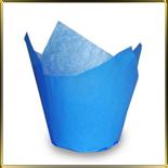 тарталетка Тюльпан d50мм синяя (50шт.)