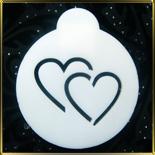 трафарет д/капуччино Сердце двойное (контур)