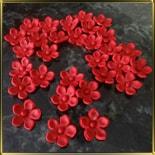 цветок Яблочный цвет 20мм красный с серединкой 25шт. мастика сах.