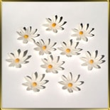 цветок Ромашка  35мм белая 10шт. мастика сах.