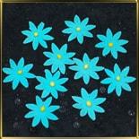цветок Ромашка 35мм голубая 10шт. мастика сах.