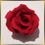 цветок Роза 70мм красная 1шт. мастика сах.
