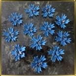 цветок Василек двойной 35мм синий 7шт. мастика сах.