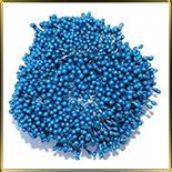 пестики-тычинки перлам. 3мм синие темные 70шт.
