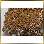 пестики-тычинки с блестками 3мм золотые