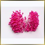 пестики-тычинки перлам. 3мм розовые темн. (лиловые)