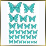 декор   Бабочки бирюзовые