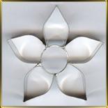 Цветок  5 лепест.  54мм (1шт.) выемка жесть