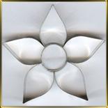 Цветок  5 лепест.  65мм (1шт.) выемка жесть