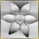 Цветок  6 лепест.  45мм (1шт.) выемка жесть