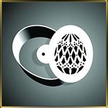 Яйцо  100мм (1шт.) выемка жесть + трафарет №7