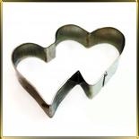 Сердце двойное  95мм (1шт.) выемка жесть