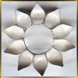 Цветок 10 лепест.  43мм (1шт.) выемка жесть