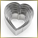 Сердце (5шт.) выемка жесть