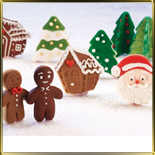 Дед Мороз/Санта Клаус (голова)  57мм (1шт.) выемка-шприц пласт.