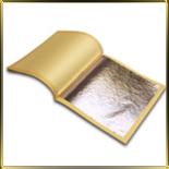 золото листовое белое 10шт. 91.5*91.5мм